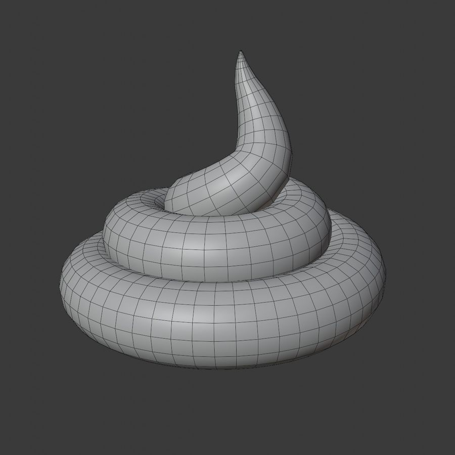 Realistic Poop. Excrement. Shit royalty-free 3d model - Preview no. 1