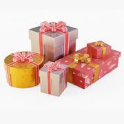 Geschenkboxen Set Weihnachten 3d model