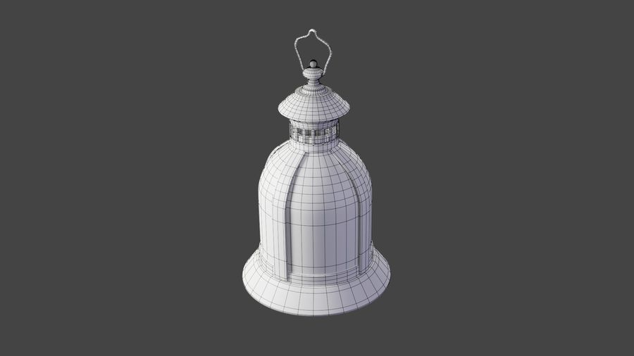 Lantern With Candle royalty-free 3d model - Preview no. 12