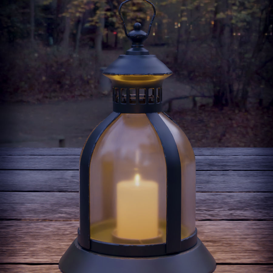 Lantern With Candle royalty-free 3d model - Preview no. 9