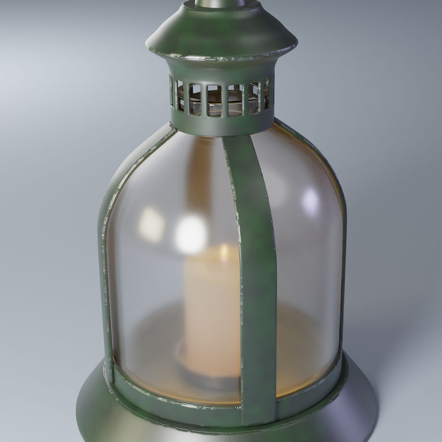 Lantern With Candle royalty-free 3d model - Preview no. 5