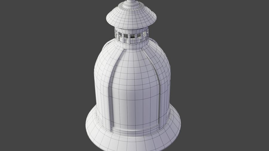 Lantern With Candle royalty-free 3d model - Preview no. 13