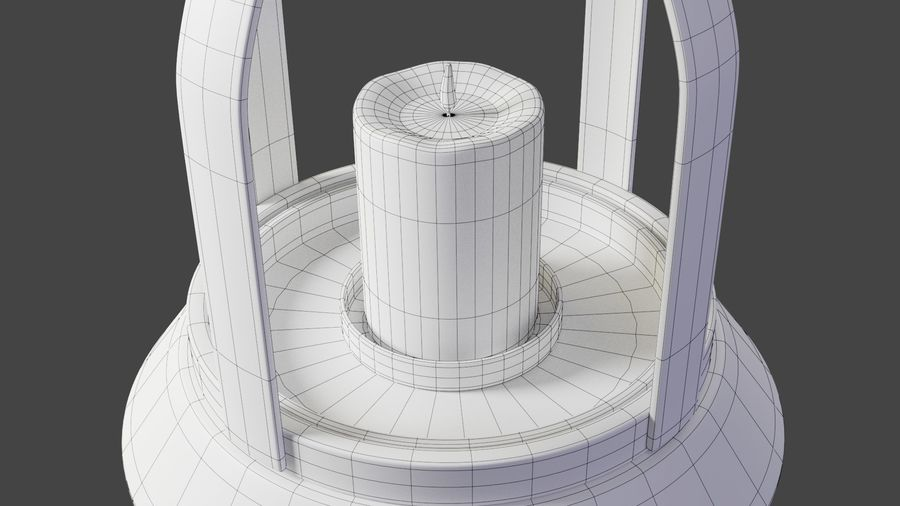 Lantern With Candle royalty-free 3d model - Preview no. 14