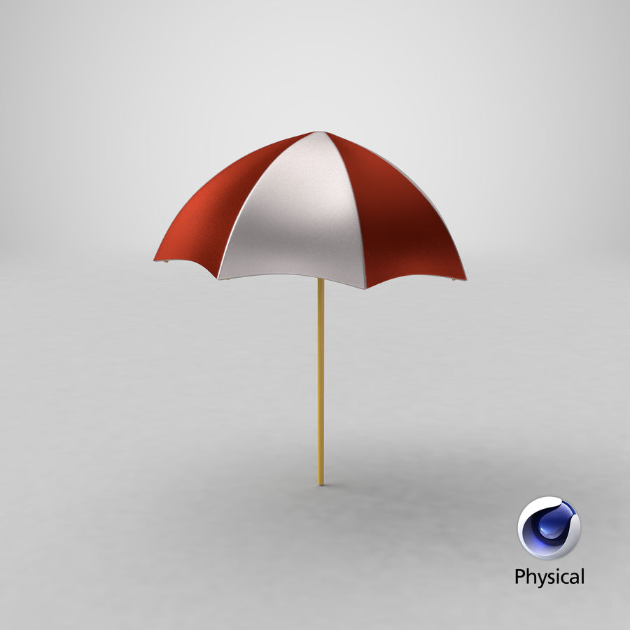 Stylized Umbrella royalty-free 3d model - Preview no. 1