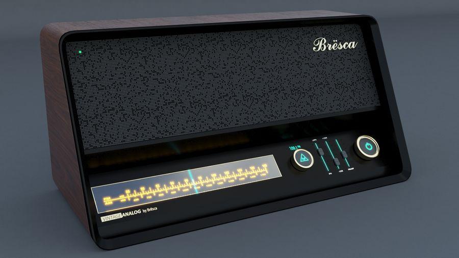 Vintage Modern Speaker Radio Low-poly 3D model royalty-free 3d model - Preview no. 1