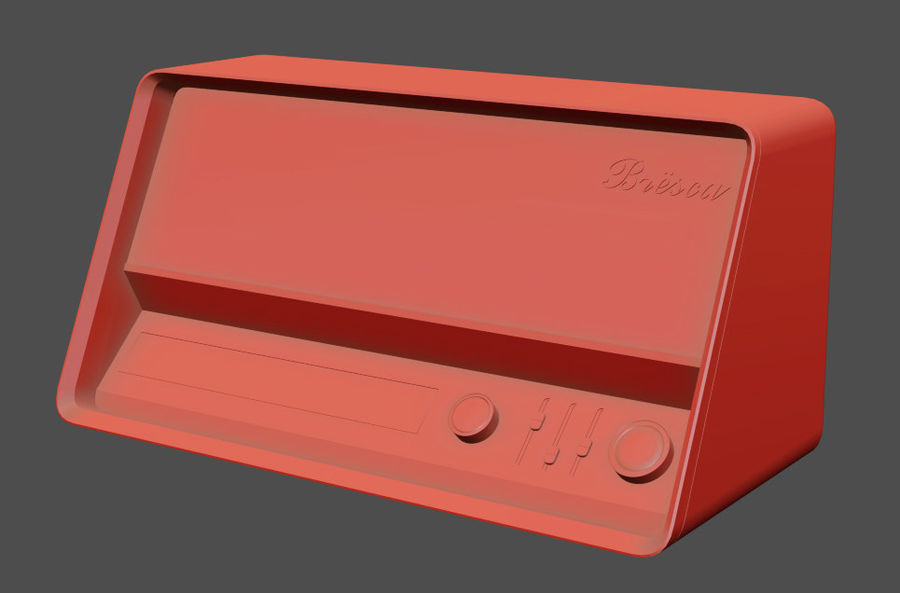 Vintage Modern Speaker Radio Low-poly 3D model royalty-free 3d model - Preview no. 6