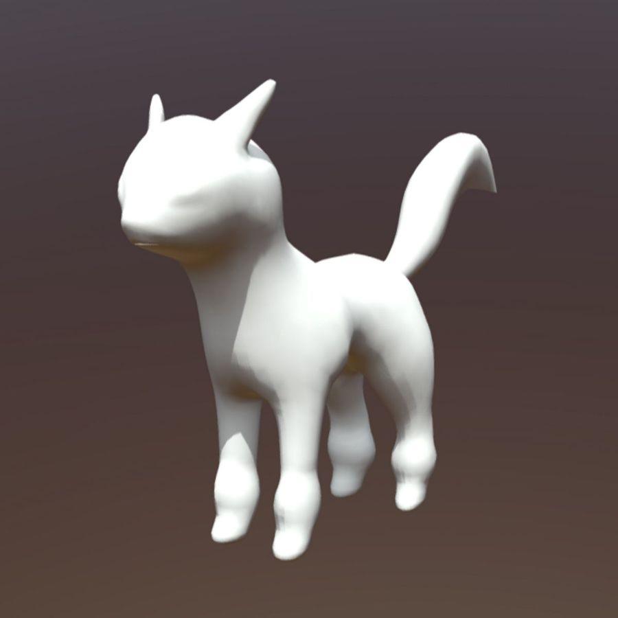 fantastic cat royalty-free 3d model - Preview no. 8
