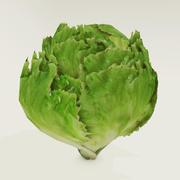 Low poly lettuce 3d model