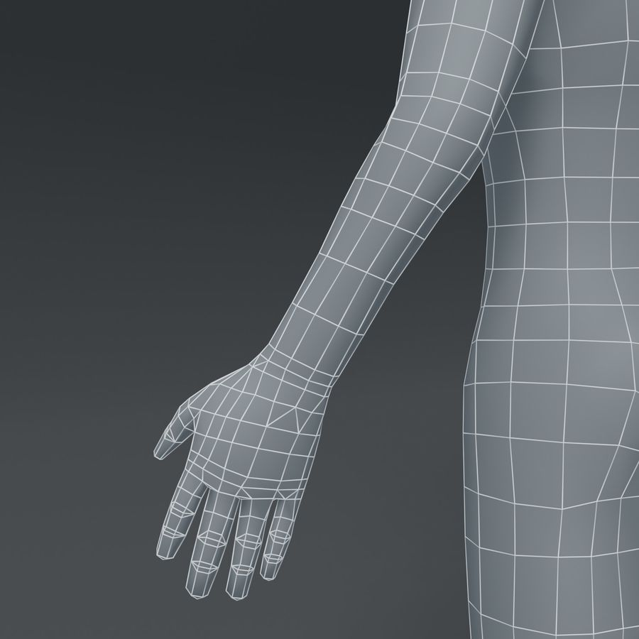 Male Body Cartoon Base Mesh 3D Model royalty-free 3d model - Preview no. 8