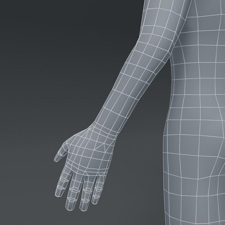 Male Body Cartoon Base Mesh 3D Model royalty-free 3d model - Preview no. 12