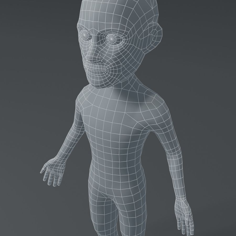 Male Body Cartoon Base Mesh 3D Model royalty-free 3d model - Preview no. 5