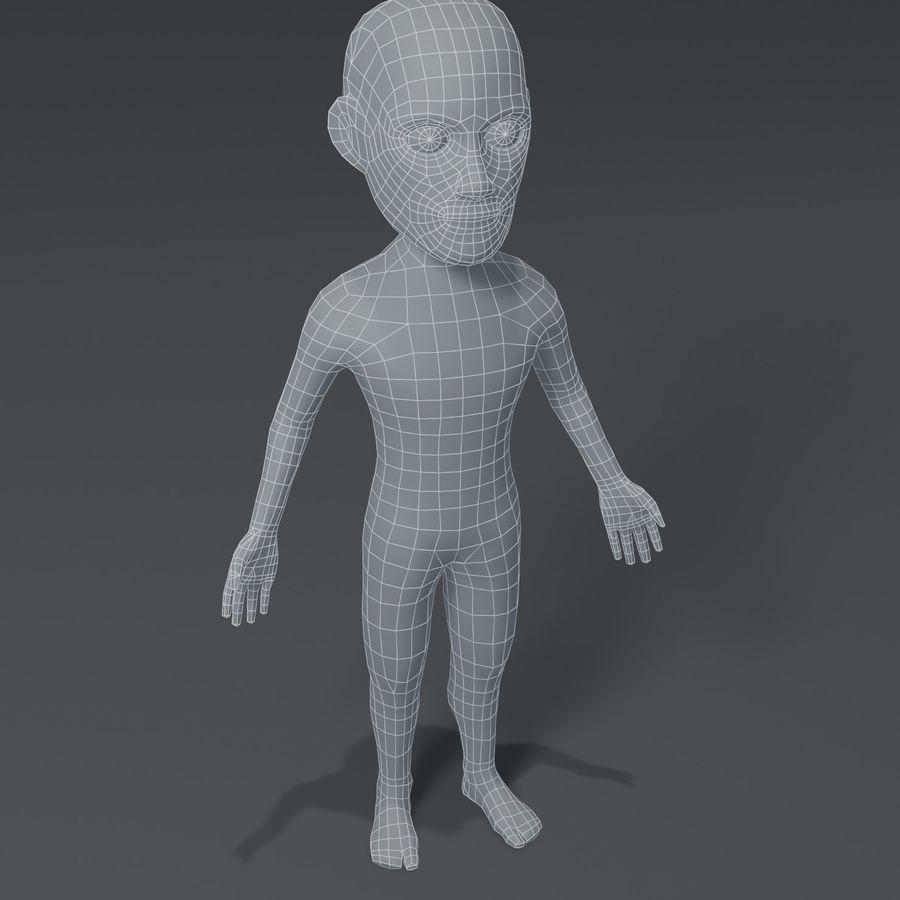 Male Body Cartoon Base Mesh 3D Model royalty-free 3d model - Preview no. 1