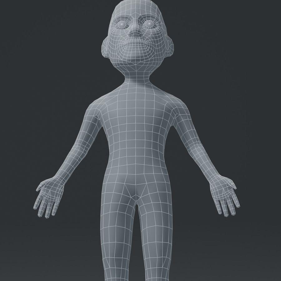 Male Body Cartoon Base Mesh 3D Model royalty-free 3d model - Preview no. 11