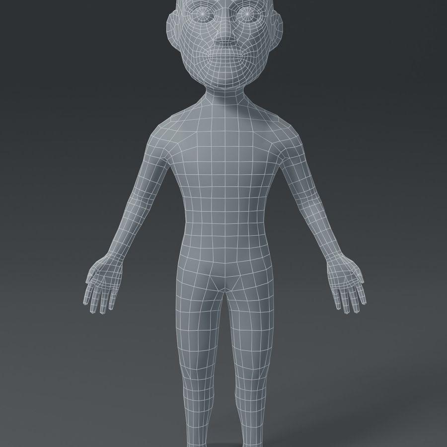 Male Body Cartoon Base Mesh 3D Model royalty-free 3d model - Preview no. 2