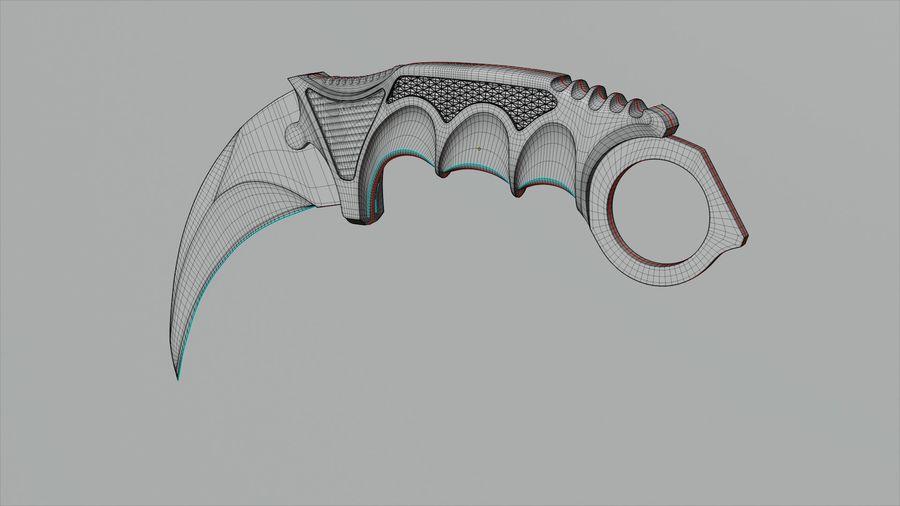 karambit knife - PBR royalty-free 3d model - Preview no. 4