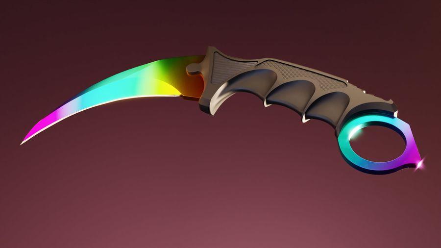 karambit knife - PBR royalty-free 3d model - Preview no. 9