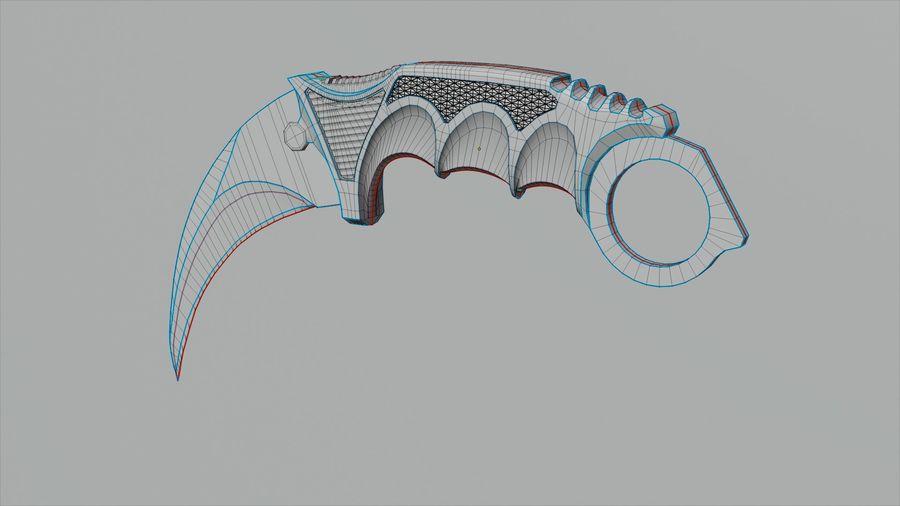 karambit knife - PBR royalty-free 3d model - Preview no. 3