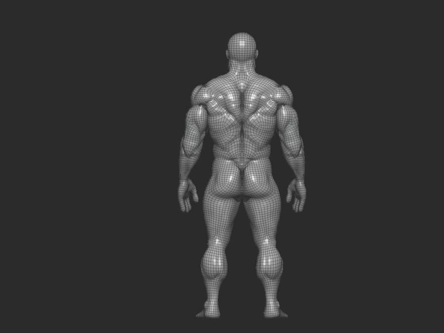 base mesh bodybuilder royalty-free 3d model - Preview no. 7