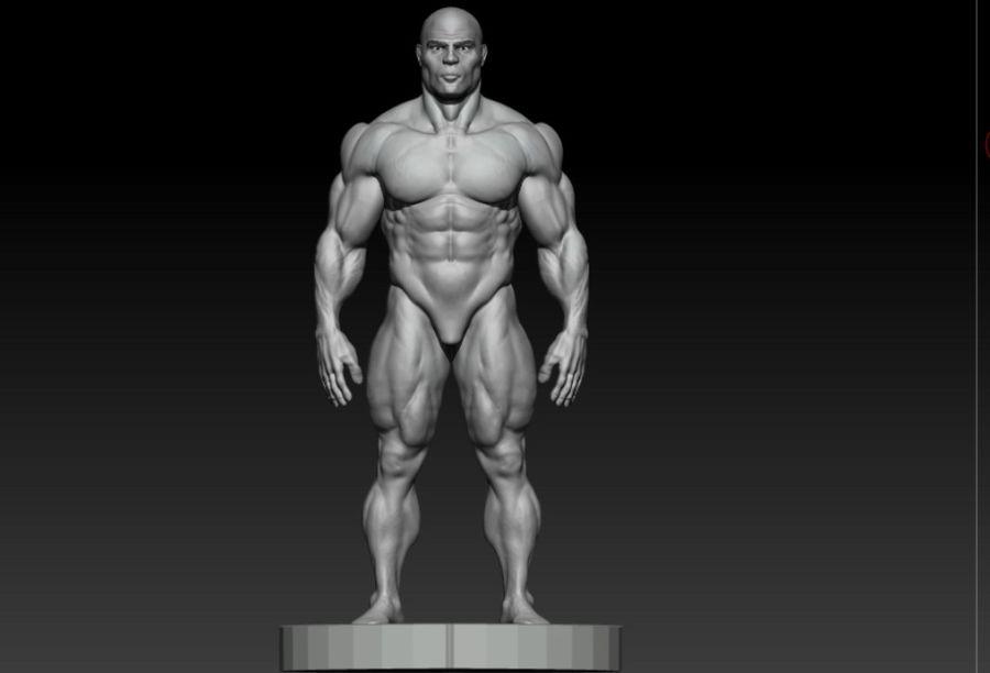 base mesh bodybuilder royalty-free 3d model - Preview no. 3