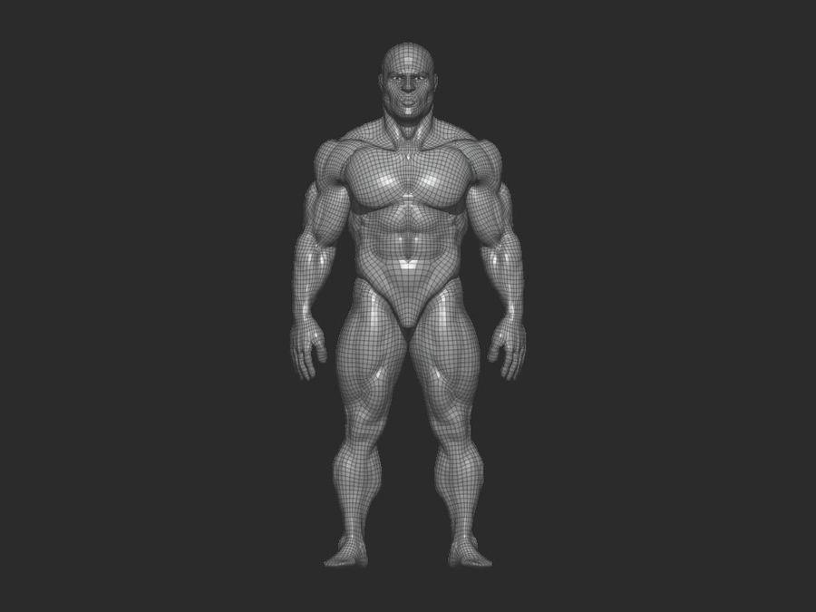 base mesh bodybuilder royalty-free 3d model - Preview no. 6