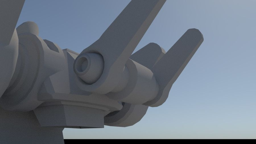 Low Poly Sci-Fi Ground Heavy Laser Turret royalty-free 3d model - Preview no. 12