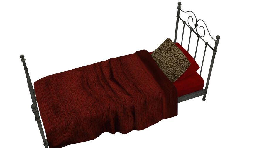 Bedcloth 19 royalty-free 3d model - Preview no. 4