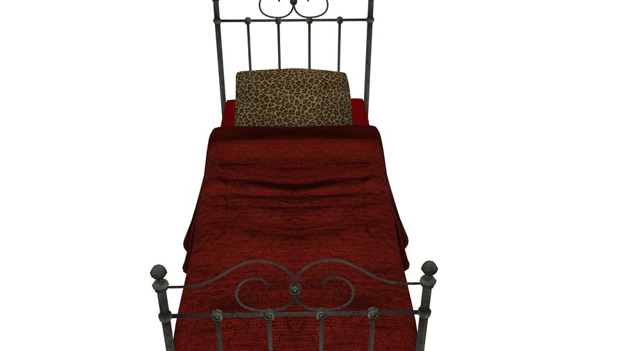 Bedcloth 19 royalty-free 3d model - Preview no. 3