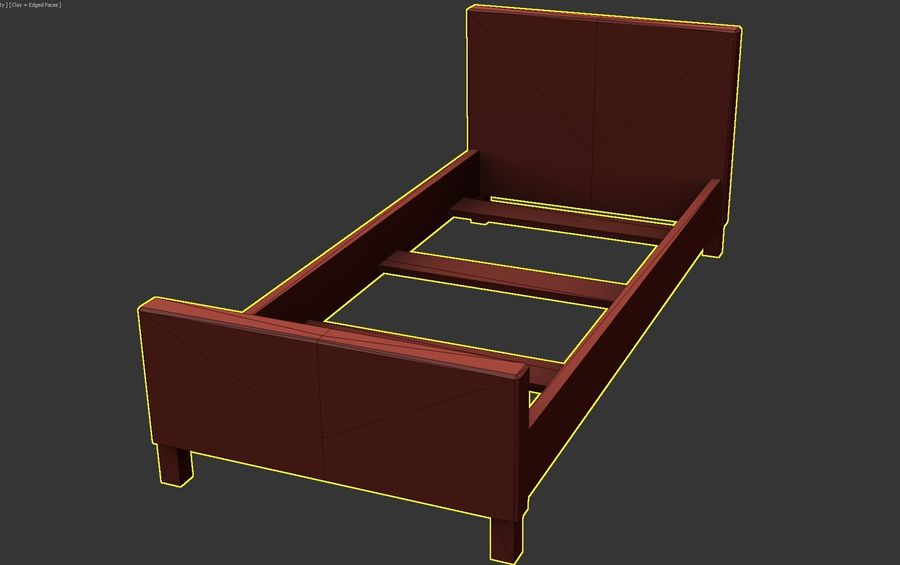 Bedcloth 33 royalty-free 3d model - Preview no. 5