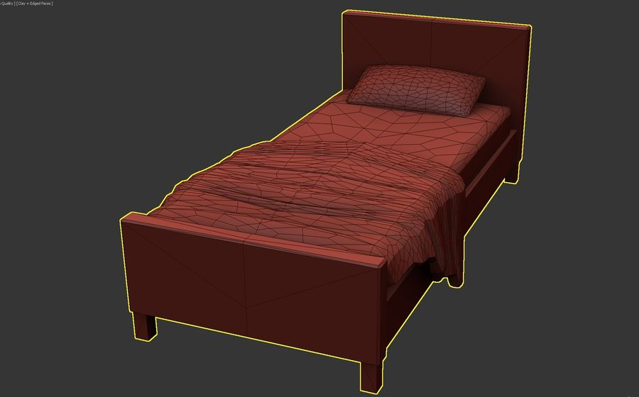 Bedcloth 28 royalty-free 3d model - Preview no. 1