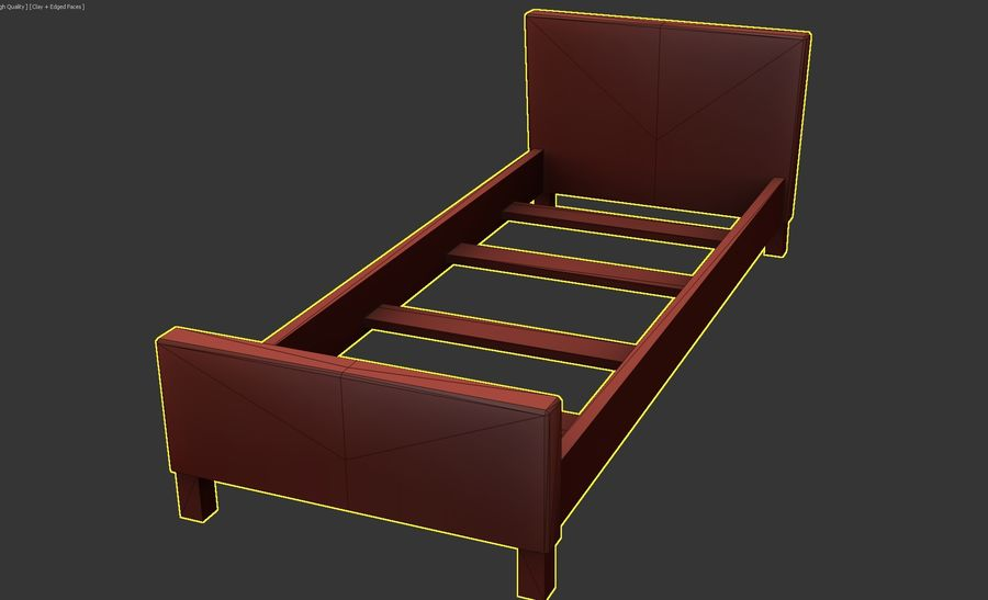 Bedcloth 27 royalty-free 3d model - Preview no. 5