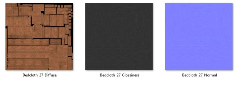 Bedcloth 27 royalty-free 3d model - Preview no. 6