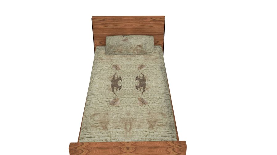 Bedcloth 29 royalty-free 3d model - Preview no. 3