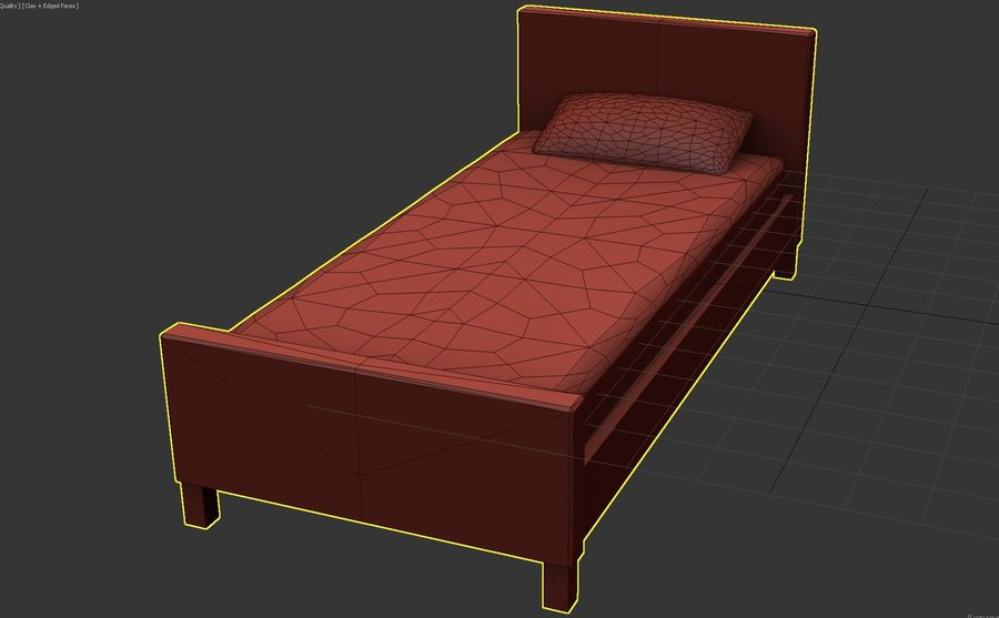 Bedcloth 29 royalty-free 3d model - Preview no. 5