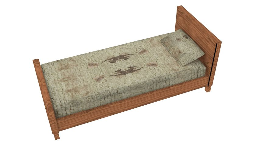 Bedcloth 29 royalty-free 3d model - Preview no. 4