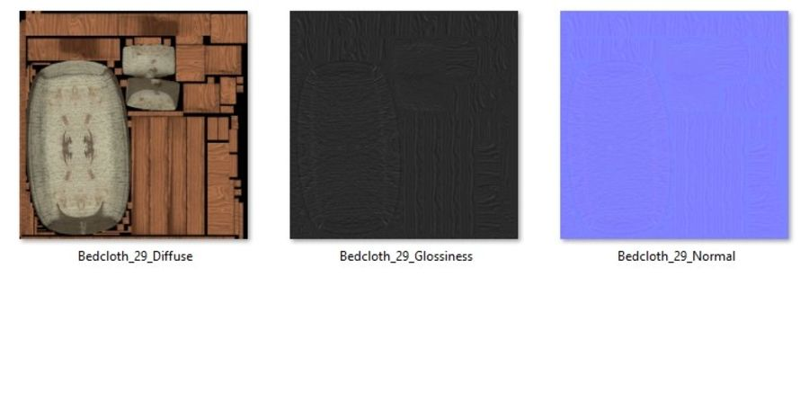 Bedcloth 29 royalty-free 3d model - Preview no. 6