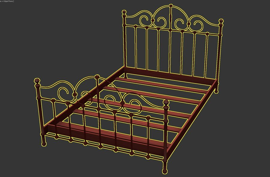 Bedcloth 23 royalty-free 3d model - Preview no. 5
