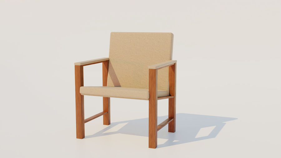 Leather Chair royalty-free 3d model - Preview no. 1