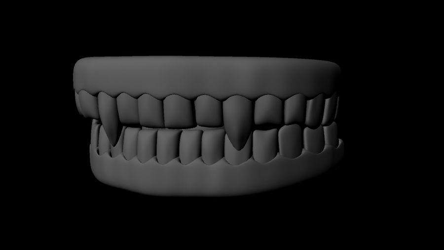 Vampire Teeth royalty-free 3d model - Preview no. 1