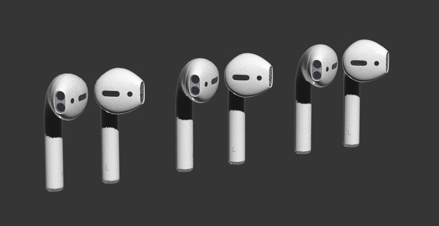 Apple AirPods royalty-free 3d model - Preview no. 12