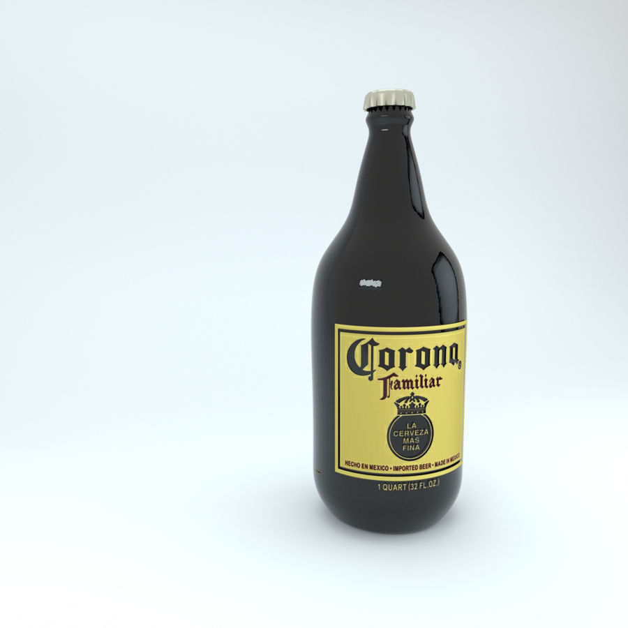 Cerveza Corona royalty-free modelo 3d - Preview no. 4
