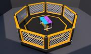 Cage Fighting Arena 3d model