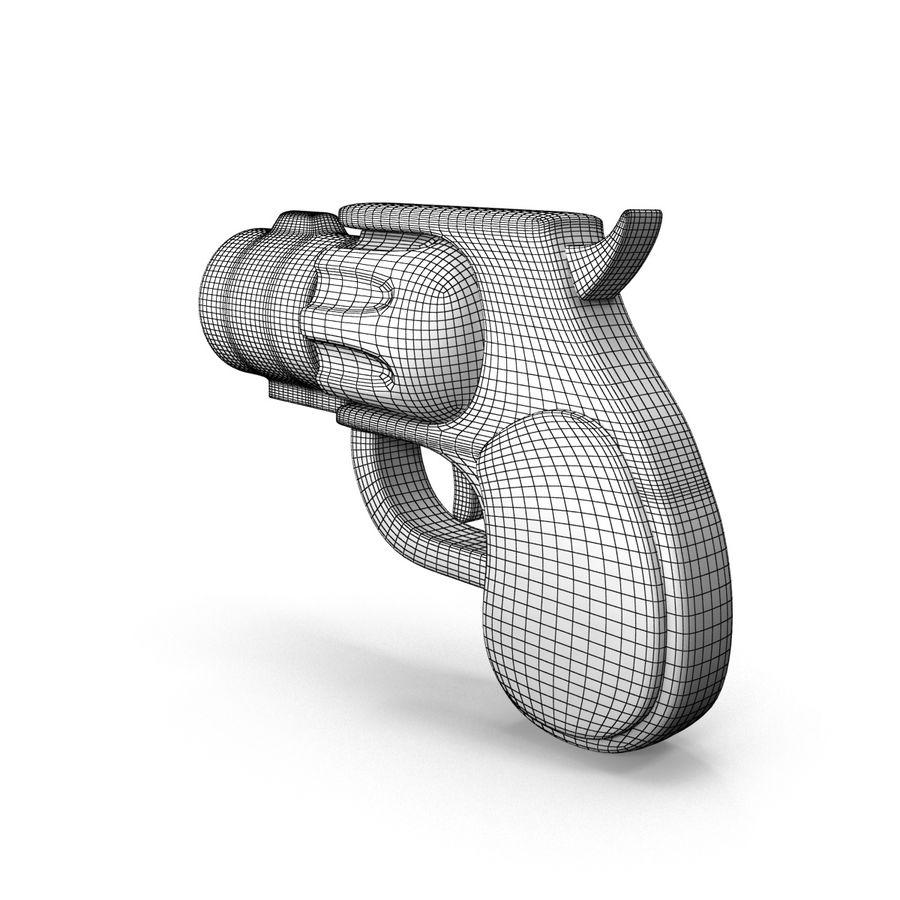 Cartoon Gun Revolver royalty-free 3d model - Preview no. 15