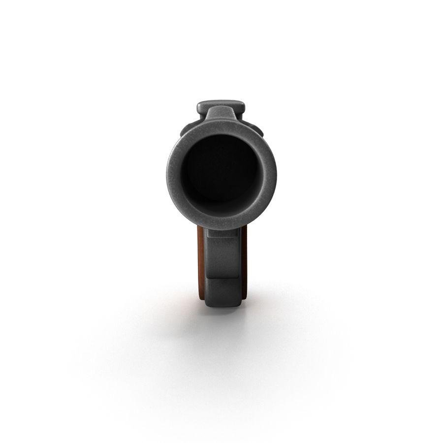Cartoon Gun Revolver royalty-free 3d model - Preview no. 4
