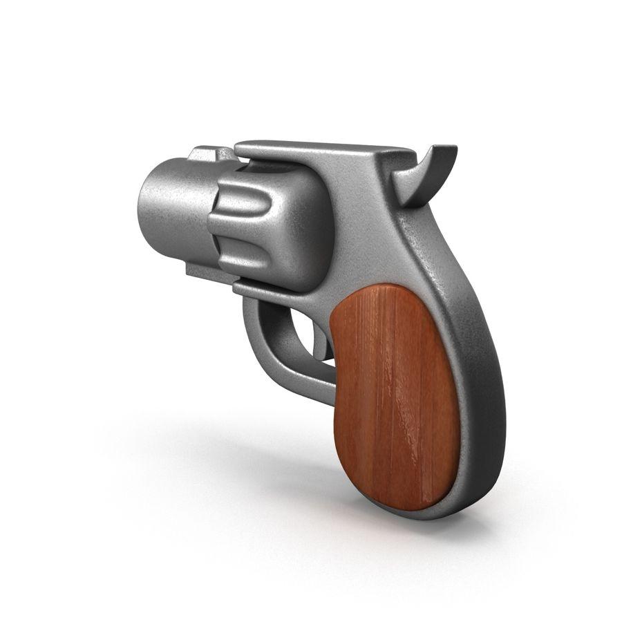 Cartoon Gun Revolver royalty-free 3d model - Preview no. 8