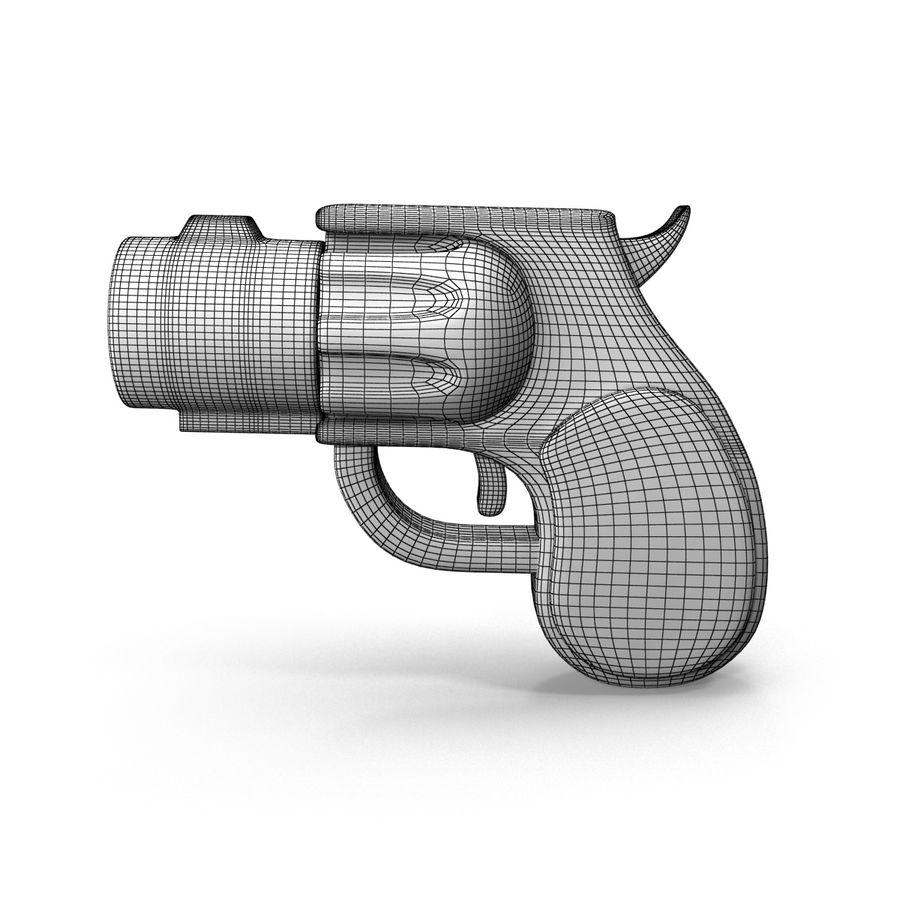 Cartoon Gun Revolver royalty-free 3d model - Preview no. 9