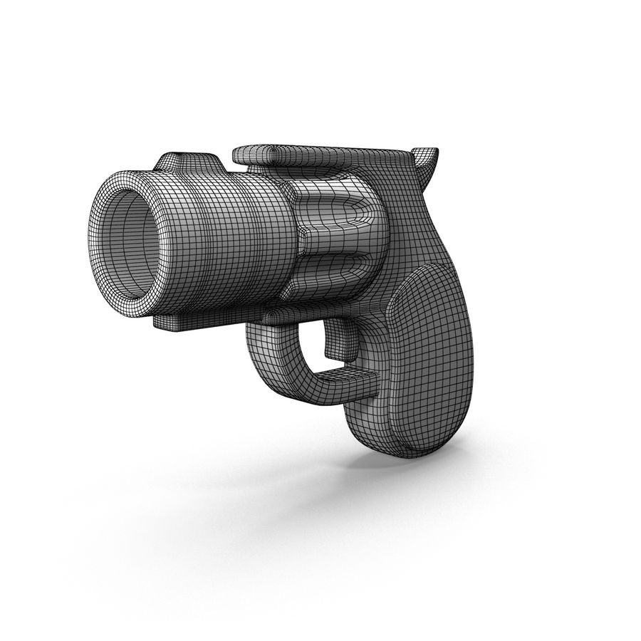 Cartoon Gun Revolver royalty-free 3d model - Preview no. 10