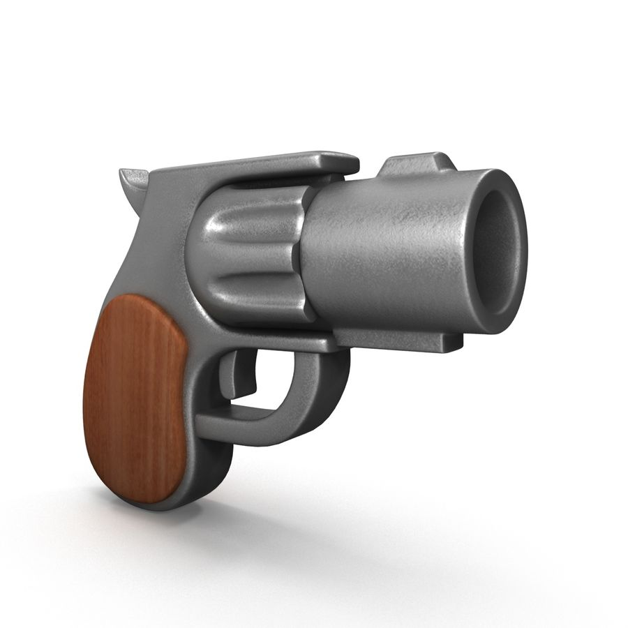 Cartoon Gun Revolver royalty-free 3d model - Preview no. 1