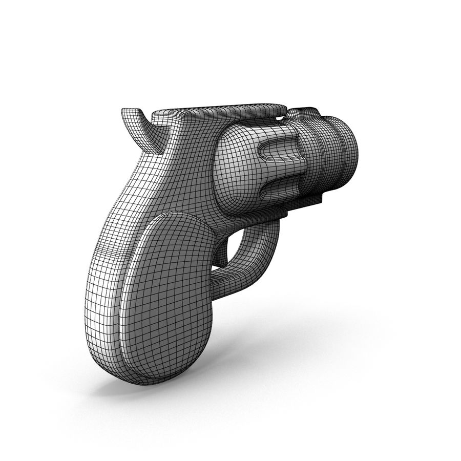 Cartoon Gun Revolver royalty-free 3d model - Preview no. 14