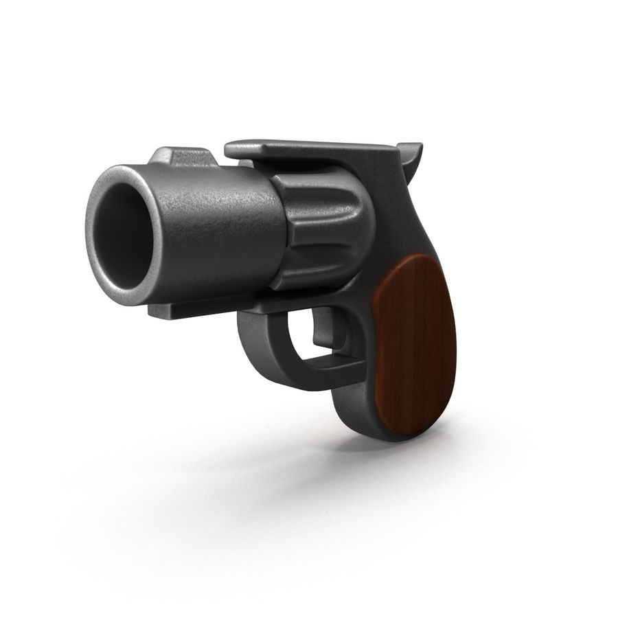 Cartoon Gun Revolver royalty-free 3d model - Preview no. 3