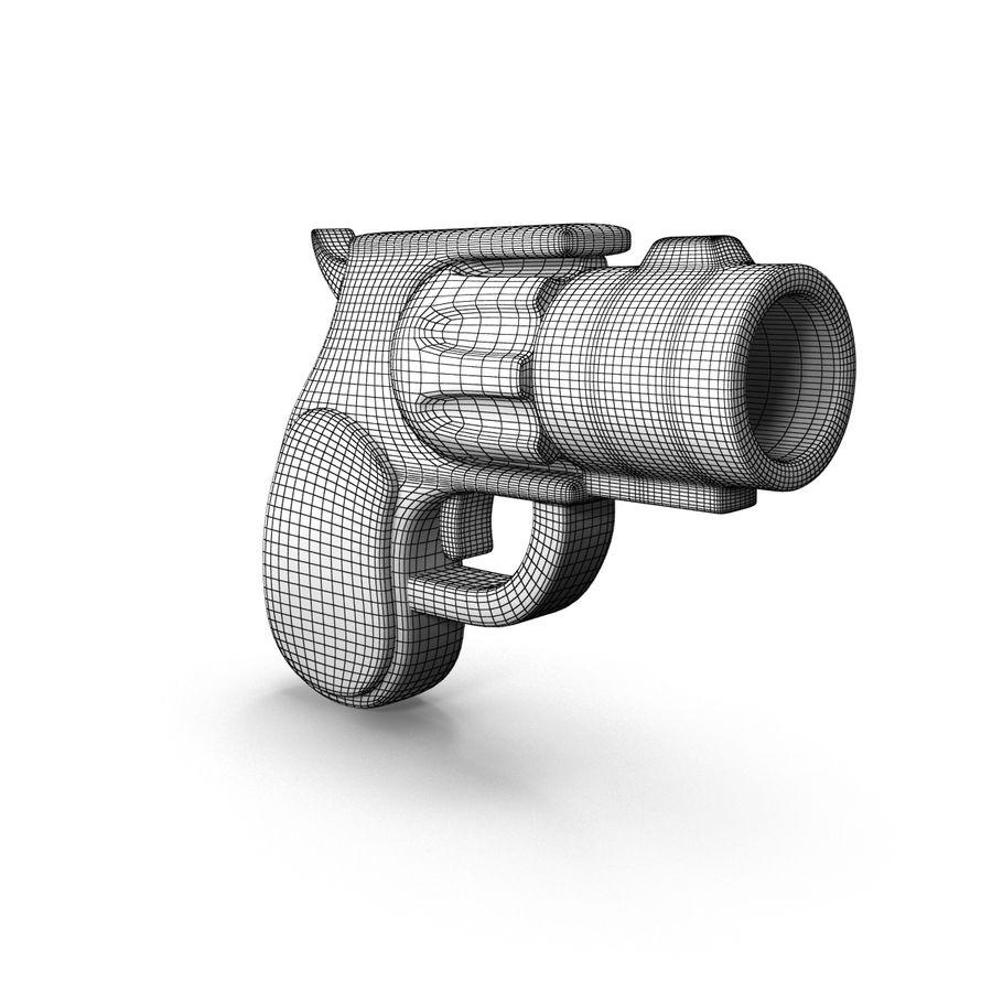 Cartoon Gun Revolver royalty-free 3d model - Preview no. 12